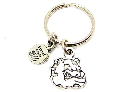 Bulldog Mascot Key Chain