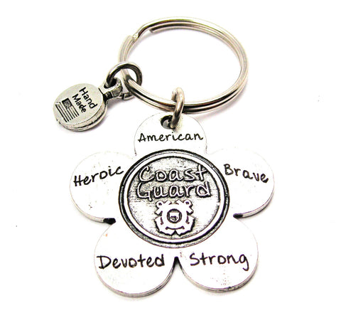 The Coast Guard Flower Key Chain