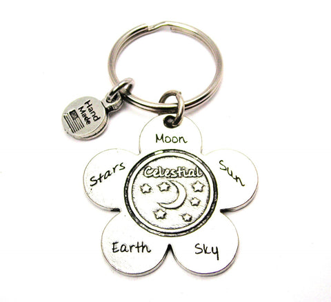 The Celestial Flower Large Key Chain