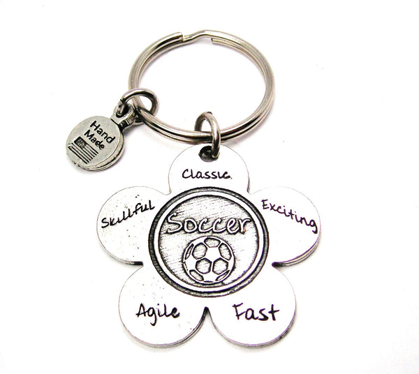 The Soccer Flower Key Chain