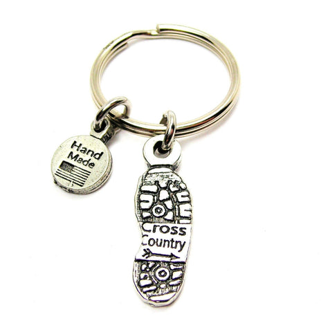 Cross Country Shoe Print Key Chain