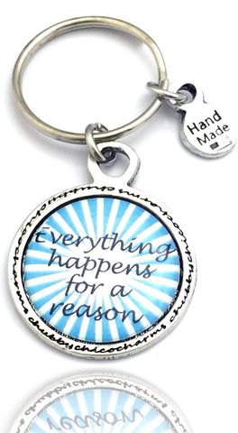 Everything Happens For A Reason Framed Resin Key Chain