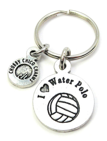 I Love Water Polo Key Chain