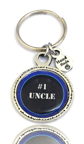 #1 Uncle Framed Resin Key Chain