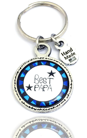 Best Papa Framed Resin Key Chain