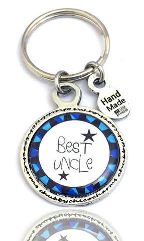 Best Uncle Framed Resin Key Chain
