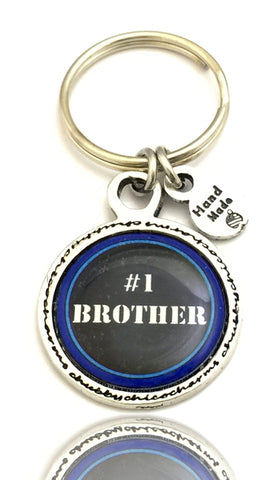 #1 Brother Framed Resin Key Chain