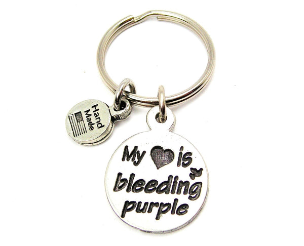 My Heart Is Bleeding Purple Key Chain