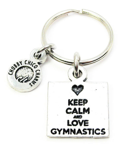 Keep Calm And Love Gymnastics Key Chain