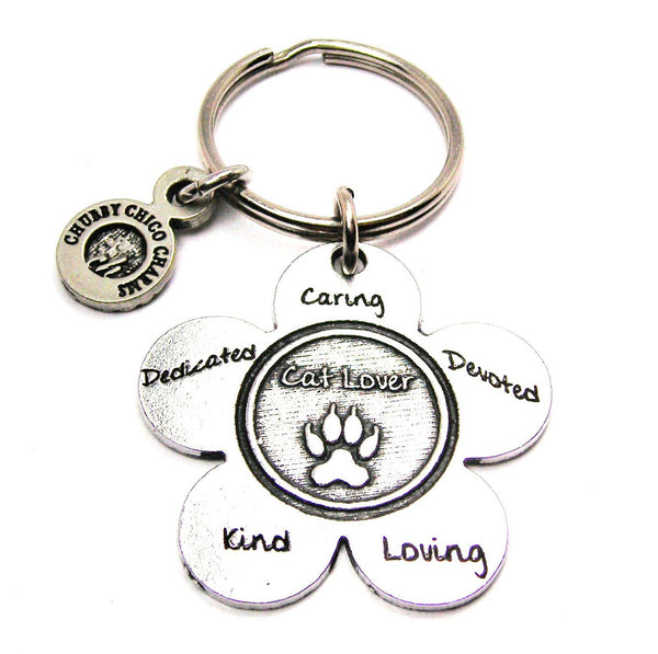 The Cat Lover Flower Standard Key Chain