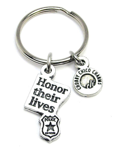 Honor Their Lives With Badge Key Chain