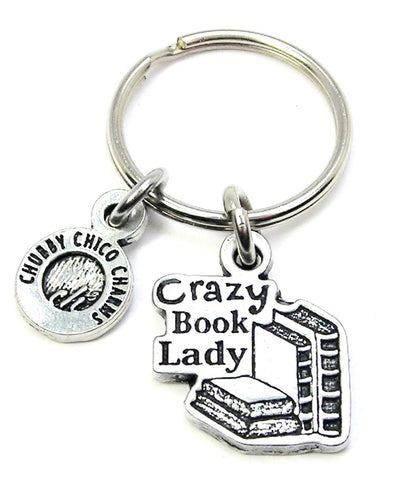 Crazy Book Lady Key Chain