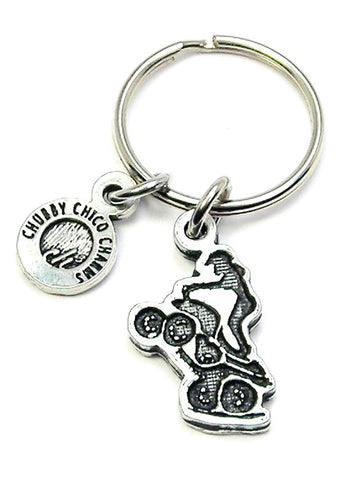 Girl On Four Wheeler Key Chain