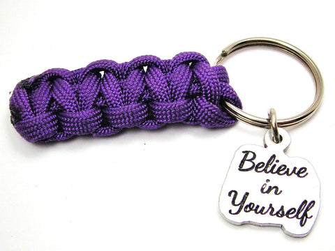Believe In Yourself 550 Military Spec Paracord Key Chain
