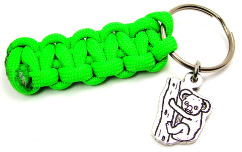Koala On Tree Paracord 550 Military Spec Paracord Key Chain