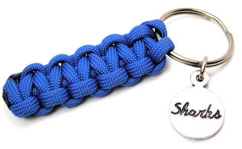 Sharks Circle Paracord 550 Military Spec Paracord Key Chain