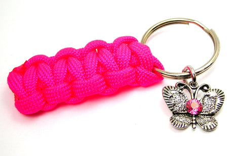 butterfly key chain, butterfly jewelry, crystal jewelry, crystal key chain