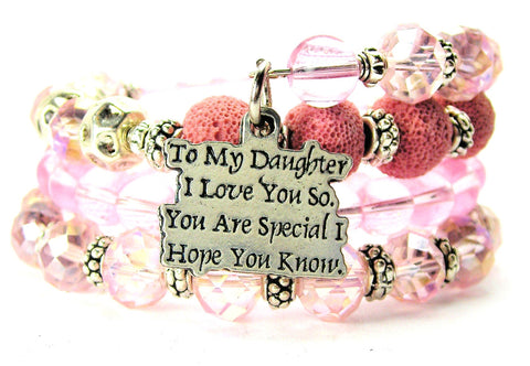 To My Daughter I Love You So You Are Special I Hope You Know Multi Wrap Bracelet