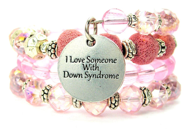I Love Someone With Down Syndrome Multi Wrap Bracelet