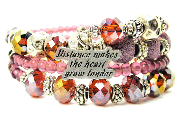 Distance Makes The Heart Grow Fonder Multi Wrap Bracelet