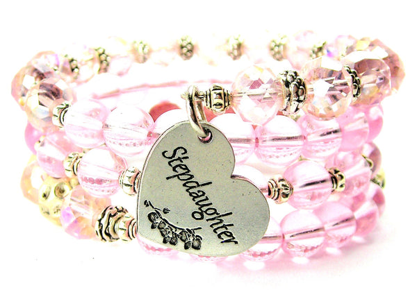 Stepdaughter Heart Multi Wrap Bracelet