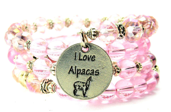 I Love Alpacas Multi Wrap Bracelet