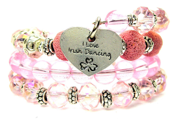 I Love Irish Dancing Multi Wrap Bracelet