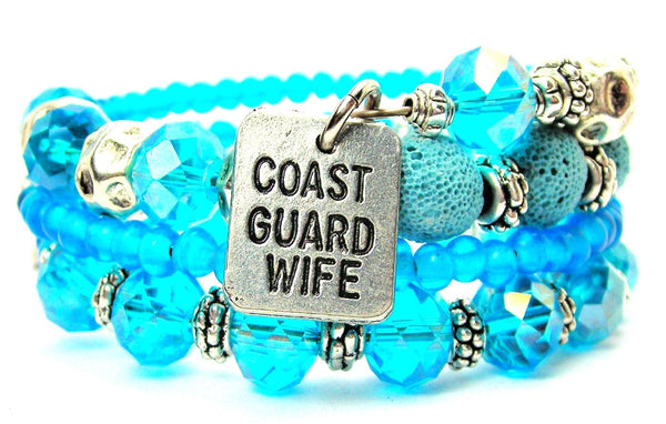 Coast Guard Wife Multi Wrap Bracelet