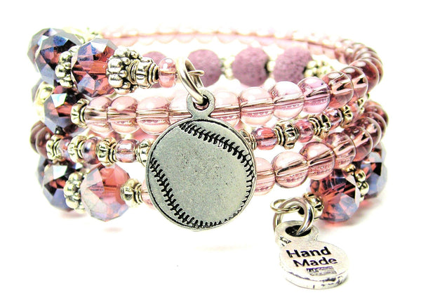 Engraved Baseball Softball Multi Wrap Bracelet