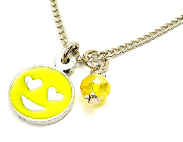 Hand Painted Love Emoji Necklace