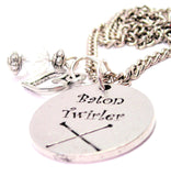Baton Twirler Necklace with Small Heart