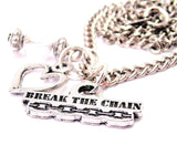 Break The Chain Necklace with Small Heart