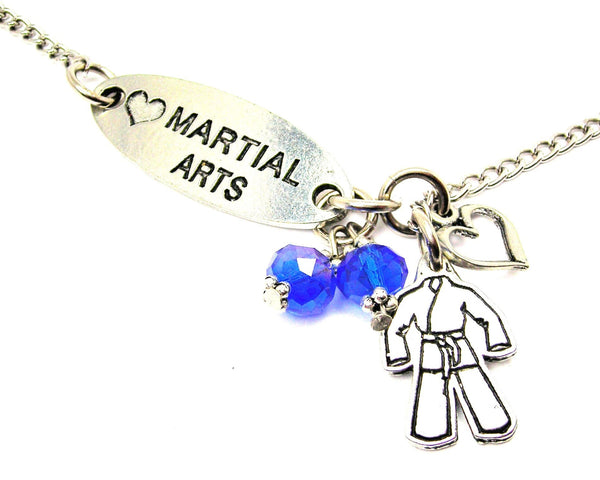 Love Martial Arts And Karate Uniform Lariat Necklace