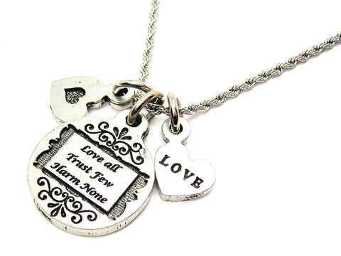 love will keep us together,  love charm,  love necklace,  love jewelry,  rope necklace