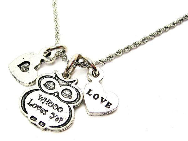 i love you more,  love charm,  love necklace,  love jewelry,  rope necklace