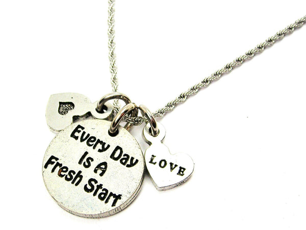 inspirational charm,  inspirational necklace,  inspirational jewelry,  rope necklace