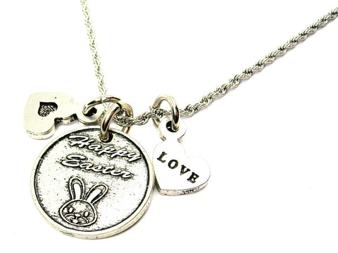 Happy Easter Stainless Steel Rope Chain Necklace