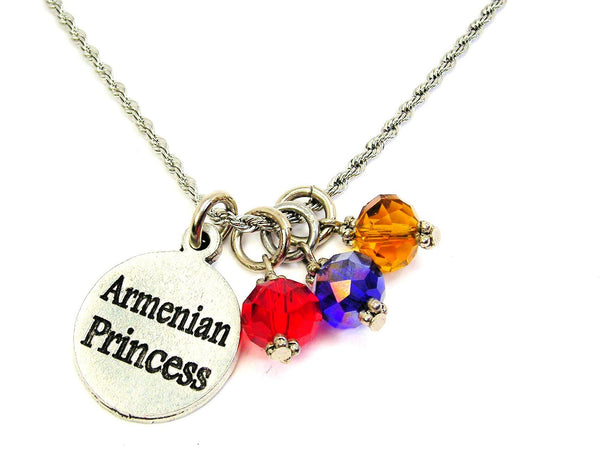 Armenian Princess Stainless Steel Rope Chain Necklace