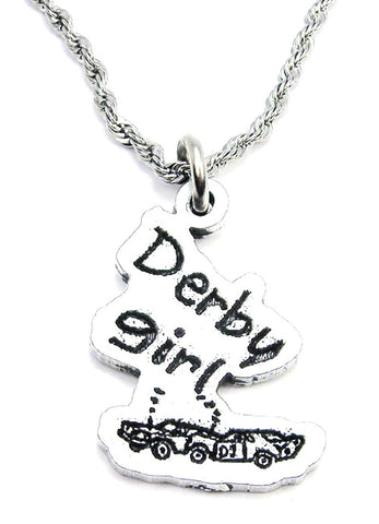 Derby Girl Crashed Cars Single Charm Necklace