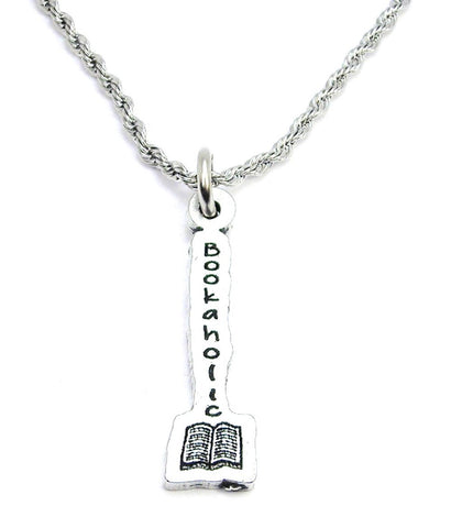 Bookaholic With Book Single Charm Necklace