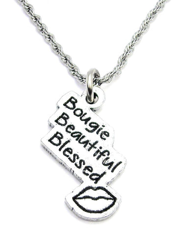 Bougie Beautiful Blessed Single Charm Necklace