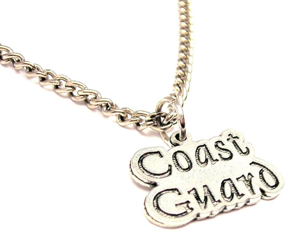 Coast Guard Single Charm Necklace