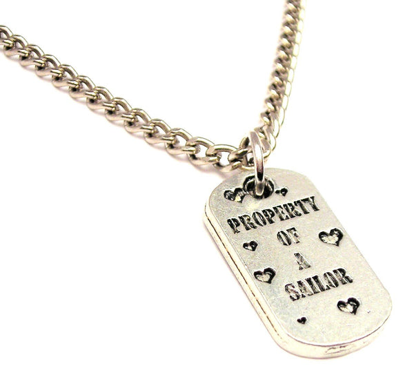 Property Of A Sailor Single Charm Necklace