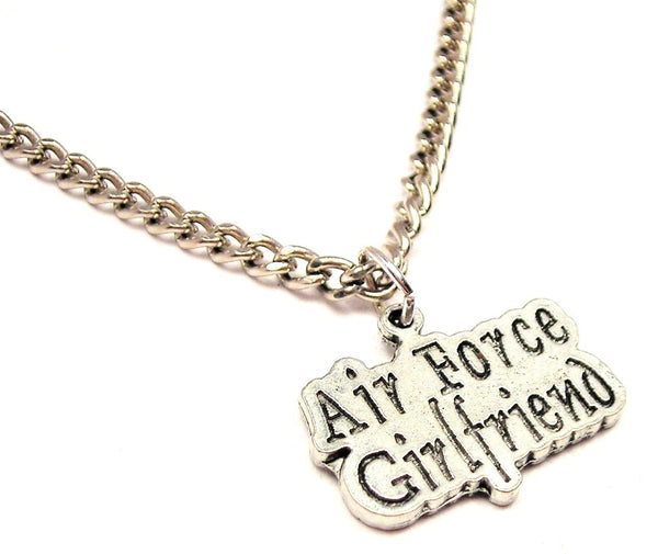 Air Force Girlfriend Single Charm Necklace