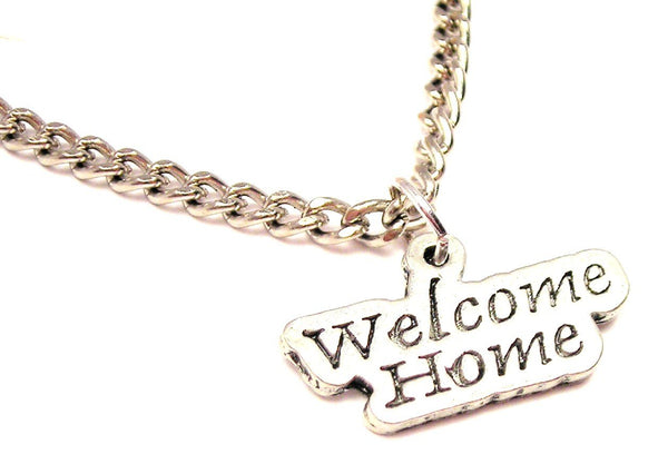 Welcome Home Single Charm Necklace