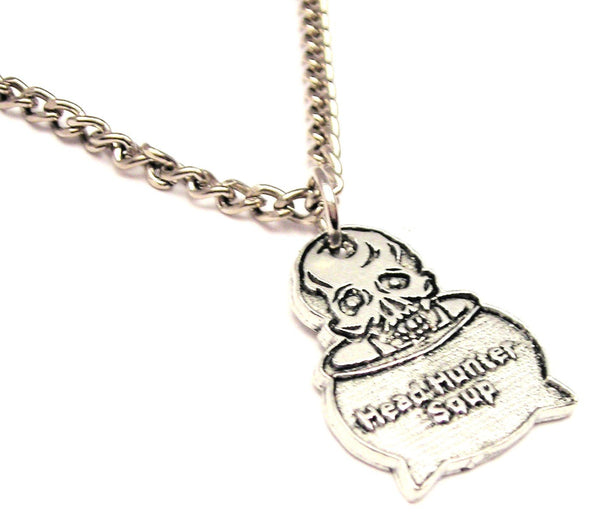 Head Hunter Soup Single Charm Necklace