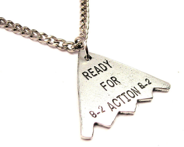 B-2 Ready For Action Single Charm Necklace