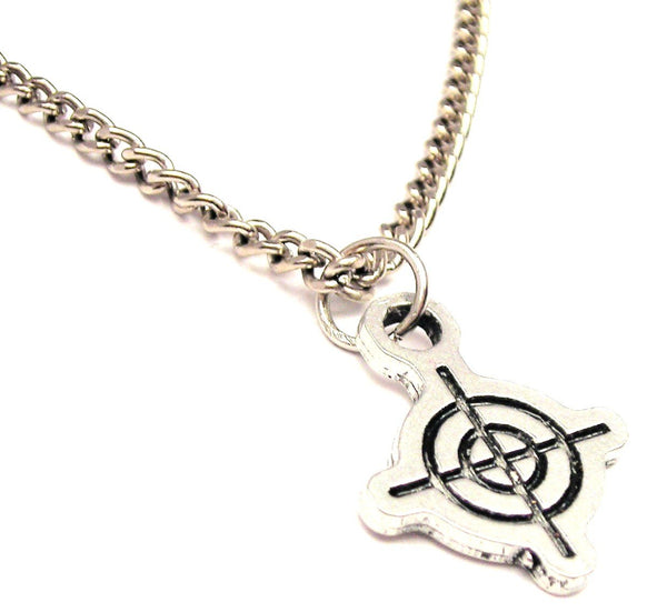 Crosshairs Single Charm Necklace