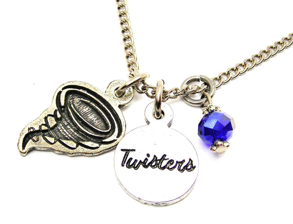 Twister With Twisters Circle Necklace