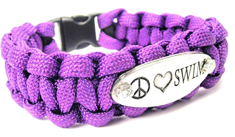 Peace Love Swim 550 Military Spec Paracord Bracelet